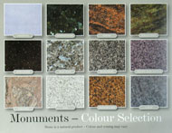 stone colour selections